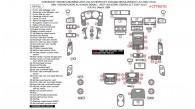Chevrolet Tahoe/Suburban 2007, 2008, 2009, 2010, 2011, 2012, 2013, 2014/Chevrolet Avalanche/Silverado LTZ 2007-2013, GMC Yukon/Yukon XL/Yukon Denali 2007-2014/GMC Sierra SLT 2007-2013, Full Interior Kit, 69 Pcs., With OEM Match, Match OEM