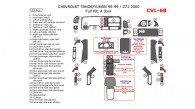Chevrolet Tahoe / GMC Yukon 1995, 1996, 1997, 1998, 1999, Full Interior Kit, 4 Door, 33 Pcs.