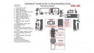 Chevrolet Silverado / GMC Sierra 1995, 1996, 1997, 1998, Chevrolet Tahoe 1995, 1996, 1997, 1998, 1999, Full Interior Kit, 24 Pcs.