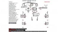 Dodge Charger 2015, 2016, 2017, 2018, Full Interior Kit, 45 Pcs.
