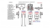 Dodge Dakota 2005, 2006, 2007, 2 Door Interior Kit, 32 Pcs.