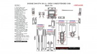 Dodge Dakota 2008, 2009, 2010, 2011, Crew Cab/Extended Cab, Basic Interior Kit, 33 Pcs.