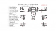 Dodge Durango 2001, 2002, 2003, Interior Dash Kit, With Bench Seat, Without Door Panels, 26 Pcs.