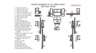 Dodge Durango 2001, 2002, 2003, Interior Dash Kit, With Bench Seat, With Door Panels, 30 Pcs.