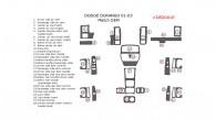 Dodge Durango 2001, 2002, 2003, Interior Dash Kit, OEM Match ,.28 Pcs.