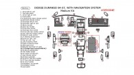 Dodge Durango 2004, 2005, 2006, 2007, With Navigation, Medium Interior Kit, 58 Pcs.