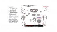 Dodge Dart 2013, 2014, 2015, 2016, Basic Interior Kit, 35 Pcs.