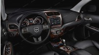 Dodge Journey 2011, 2012, 2013, 2014, 2015, 2016, 2017, 2018, Full Interior Kit, 40 Pcs.