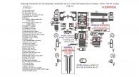 """Dodge Charger 2006-2007 / Magnum 2005-2007, W/o Navigation, With """"SRT8"""" Logo, Full Interior Kit, 74 Pcs."""