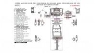 Dodge RAM 1500 2006, 2007, 2008, Ram 2500/3500 2006-2009, Regular, Quad, And Mega Cab (non-SRT10),Without Navigation System, Basic Interior Kit, 42 Pcs.