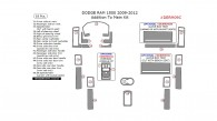 Dodge RAM 1500 2009, 2010, 2011, 2012, Addition To Main Interior Kit, 18 Pcs.