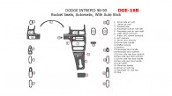 Dodge Intrepid 1998-1999, Interior Dash Kit, Bucket Seats, Automatic, With Auto-stick, 23 Pcs.