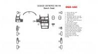 Dodge Intrepid 1998-1999, Interior Dash Kit, Bench Seat, 20 Pcs.