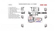 Dodge Dakota 2000, Dodge Dakota 2000, Interior Dash Kit, 2&4 Door, 14 Pcs.
