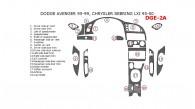 Chrysler Sebring 1995, 1996, 1997, 1998, 1999, 2000, Full Interior Kit, 19 Pcs.