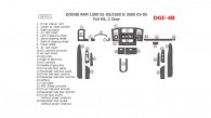 Dodge RAM 1500 (2002, 2003, 2004, 2005), RAM 2500/3500 (2003, 2004, 2005), Full Interior Kit, 2 Door, 26 Pcs.