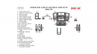 Dodge RAM 1500 2002, 2003, 2004, 2005, RAM 2500/3500 2003-2005, Basic Interior Kit, 2&4 Door, 22 Pcs.