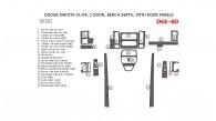 Dodge Dakota 2001, 2002, 2003, 2004, Interior Dash Kit, 2 Door, Bench Seats, With Door Panels, 21 Pcs.