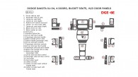 Dodge Dakota 2001, 2002, 2003, 2004, Interior Dash Kit, 4 Door, Bucket Seats, Without Door Panels, 28 Pcs.