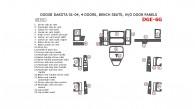 Dodge Dakota 2001, 2002, 2003, 2004, Interior Dash Kit, 4 Door, Bench Seats, Without Door Panels, 25 Pcs.