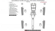 Dacia Duster / Renault Duster 2010, 2011, 2012, With Manual Transmission, Full Interior Kit, 18 Pcs.