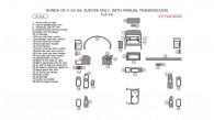 Honda CR-V 2002, 2003, 2004, With Manual Transmission, Full Interior Kit, 37 Pcs. Europe Only