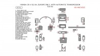 Honda CR-V 2002, 2003, 2004, With Automatic Transmission, Basic Interior Kit, 40 Pcs. Europe Only