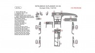 Mitsubishi Outlander 2003, 2004, 2005, 2006, Europe Only, Full Interior Kit, 29 Pcs.