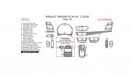 Renault Megane 2009, 2010, 2011, 2012, 2013, 2014, 2015, 2 Door, Main Interior Kit, 18 Pcs.