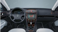Skoda Octavia II (A5) 2005, 2006, 2007, With Dual Zone Climate Control, Main Interior Kit, 16 Pcs.