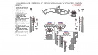 Ford Econoline E-Series 2006-2007, Interior Dash Kit, With Power Package, W/o Traction Control, 32 Pcs.