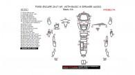 Ford Escape 2017-2018, With Basic 6 Speaker Audio, Basic Interior Kit, 46 Pcs.