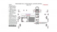 Ford Edge 2009-2010, With Manual Climate Control, Basic Interior Kit, 32 Pcs.