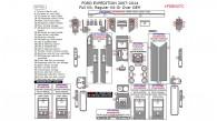 Ford Expedition 2007, 2008, 2009, 2010, 2011, 2012, 2013, 2014, Regular Kit Or Over OEM, Full Interior Kit, 57 Pcs.