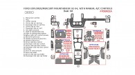 Ford Explorer / Mercury Mountaineer 2002, 2003, 2004, With Manual A/C Controls, Basic Interior Kit, 24 Pcs.