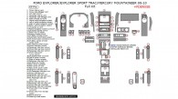 Ford Explorer Sport Trac 2008, 2009, 2010, 2011, 2012, 2013, 2014, 2015/Explorer 2008-2010, Mercury Mountaineer 2008-2015, Full Interior Kit, 69 Pcs.