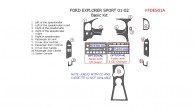 Ford Explorer Sport 2001-2002, Basic Interior Kit, 11 Pcs.