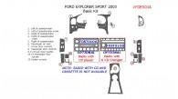 Ford Explorer Sport 2003, Basic Interior Kit, 15 Pcs.