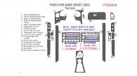 Ford Explorer Sport 2003, Full Interior Kit, 21 Pcs.