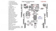 Ford Excursion 2000, 2001, 2002, 2003, 2004, 2005, Full Interior Kit, 48 Pcs.
