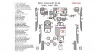 Ford Excursion 2000, 2001, 2002, 2003, 2004, 2005, Full Interior Kit, 47 Pcs., Match OEM
