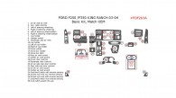 Ford F-250/F-550 1999, 2000, 2001, 2002, 2003, 2004, King Ranch, Basic Interior Kit, 28 Pcs., Match OEM