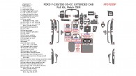 Ford F-250, F-550 2005, 2006, 2007, Match OEM, Extended Cab, Full Interior Kit, 42 Pcs.