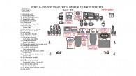 Ford F-250, F-550 2005, 2006, 2007, Without OEM, With Digital Climate Control, Basic Interior Kit, 34 Pcs