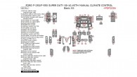 Ford F-250, F-550 2008, 2009, 2010, With Manual Climate Control, Basic Interior Kit, 68 Pcs.