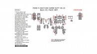 Ford F-250, F-550 2008, 2009, 2010, Basic Interior Kit, 60 Pcs., Match OEM