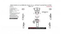 Ford Fusion 2010, 2011, 2012, Mercury Milan 2010-2011, Without Navigation System, Basic Interior Kit, 20 Pcs.
