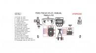 Ford Focus 2005, 2006, 2007, Manual, Medium Interior Kit, 22 Pcs.