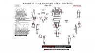 Ford Focus 2015, 2016, 2017, For Models Without Sony Radio, Main Interior Kit, 37 Pcs.