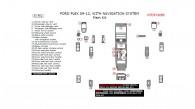 Ford Flex 2009, 2010, 2011, 2012, With Navigation System, Main Interior Kit, 31 Pcs.